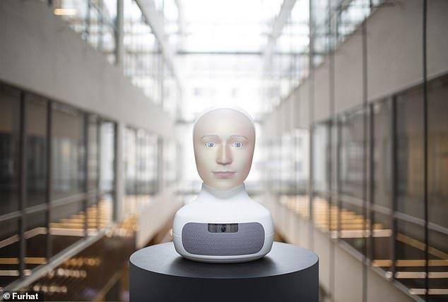 سر رباتیک که حالات چهره افراد را تشخیص می دهد