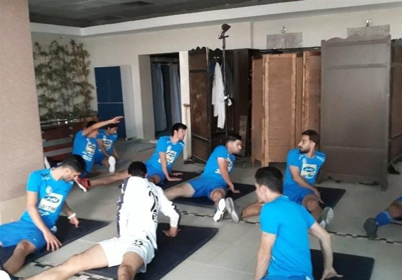 تمرین وزنه استقلالی ها در هتل المپیک