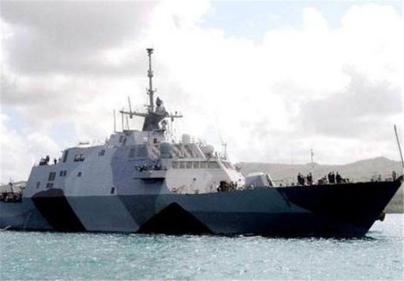 ناو جنگی آمریکا وارد آب های سنگاپور شد