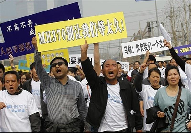 خانواده های مسافران چینی به دنبال پاسخ مقام های مالزیایی