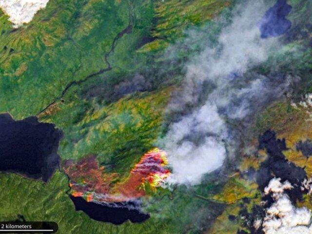 وسعت آتش سوزی های جنگلی قطب شمال بزرگتر از اتحادیه اروپا