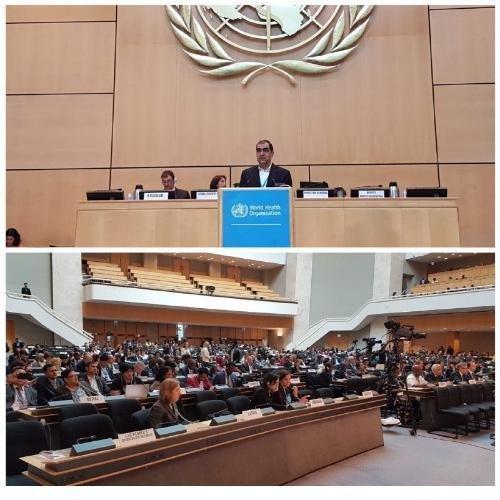 روز پرکار وزیر بهداشت در حاشیه هفتادمین مجمع جهانی بهداشت در ژنو