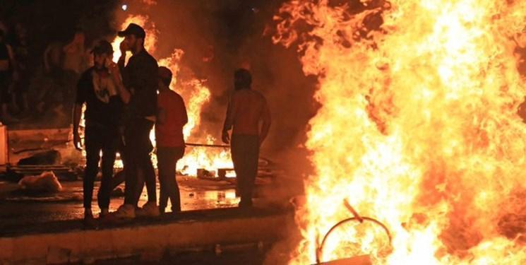 منزل استاندار ذی قاردر جریان اعتراضات عراق به آتش کشیده شد
