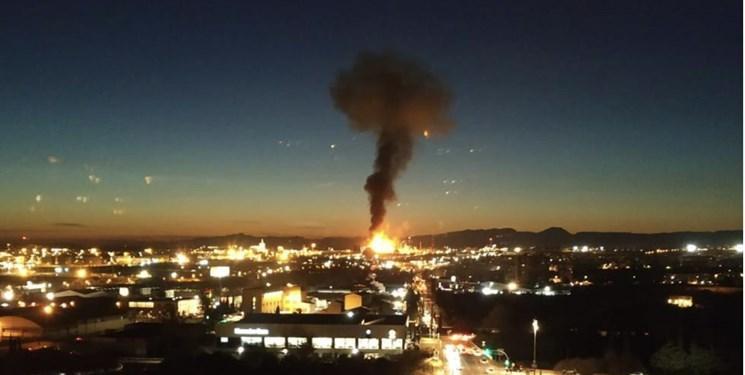انفجار و آتش سوزی در یک کارخانه شیمیایی در اسپانیا