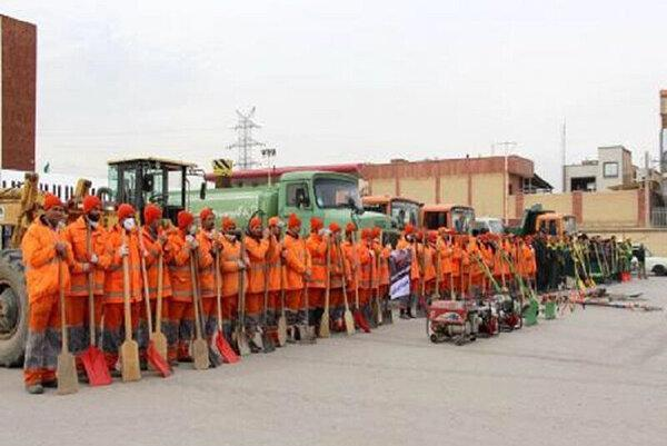 نیروهای خدمات شهری شهرداری مشهد به حالت آماده باش درآمدند