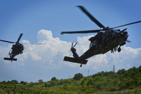 سقوط بالگرد نظامی آمریکا 5 کشته و زخمی برجای گذاشت