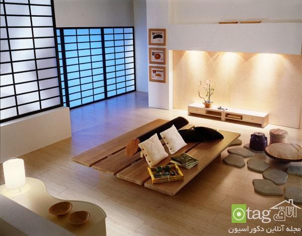 چیدمان و دیزاین اتاق نشیمن به سبک و استایل ژاپنی