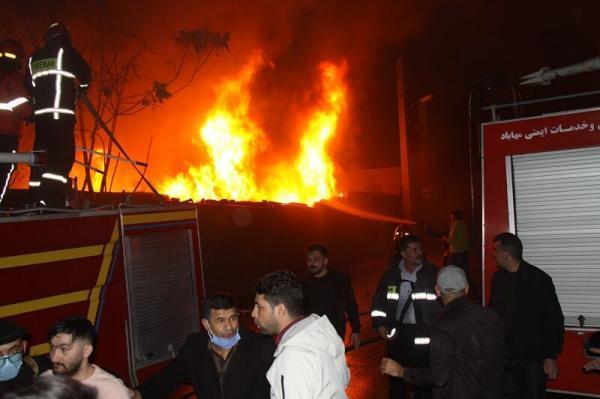 خبرنگاران بزرگترین بازارچه مهاباد طعمه آتش شد