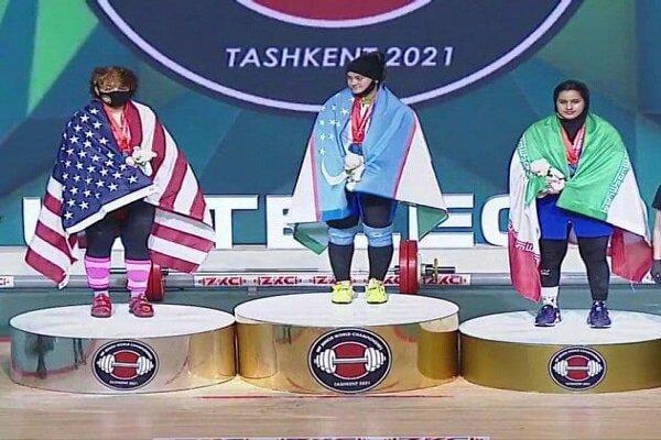 تاریخ سازی دختر وزنه بردار ایران، نخستین مدال جهانی زنان ایران