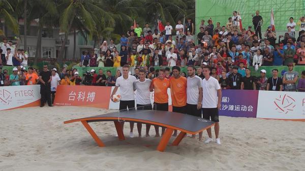 چین؛ شهر ساحلی سانیا برای برگزاری بازیهای ساحلی آسیا آماده می گردد