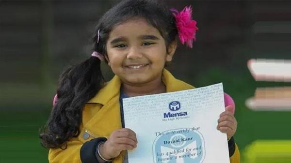 دختری 3 ساله با هوشی نزدیک به اینشتین!